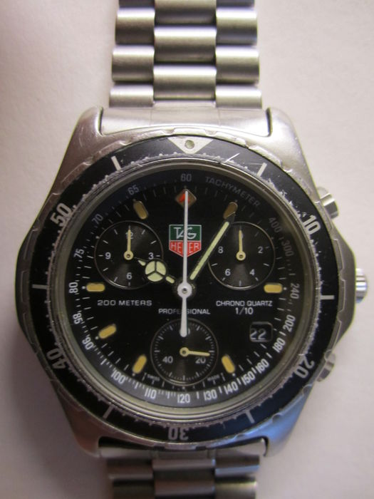 746c6a2d654 TAG HEUER 200 meters professional tenth Chronograph - Men's Wristwatch -  1980s