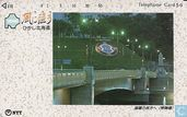 Telefoonkaarten - Nippon Telegraph and Telephone Corporation - Hokkaido - Bridge At Night