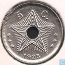 The Belgian Congo 5 centimes 1925