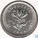 Rhodesia 6 pence - 5 cents 1964