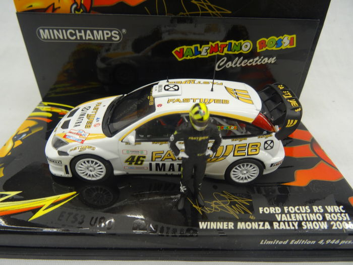 MiniChamps - 1:43 - Ford Focus RS WRC #46 Valentino Rossi  - Winner Monza Rally Show 2006 Limited 4946 Pieces