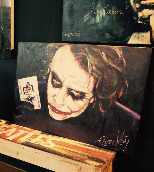 The dark knight the joker heath ledger gicl e avec for Stephan evenblij