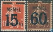 Imprint on French stamps