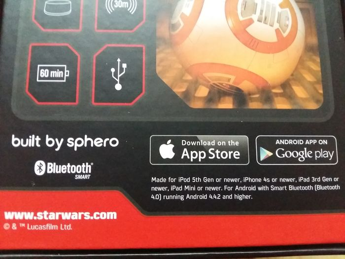 Star Wars The Force Awakens - Sphero - Disney - BB-8 App enabled