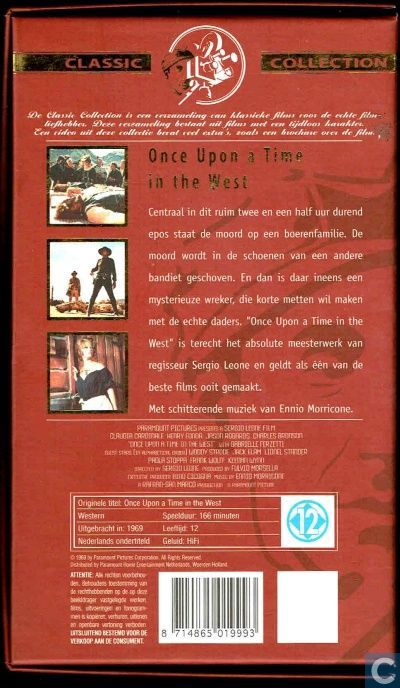 once upon a time in the west vhs videoband catawiki
