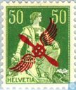 Postage Stamps - Switzerland [CHE] - Seated Helvetia with Sword