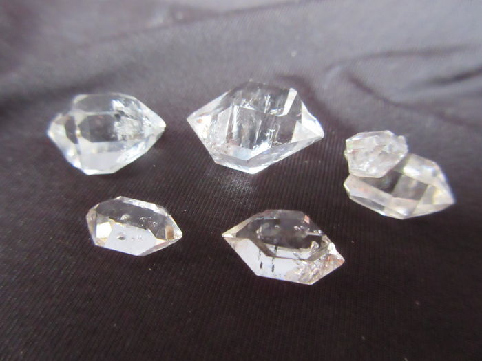 5 Herkimer diamanten - 9 tot 18 mm