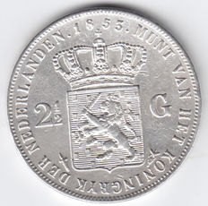 The Netherlands – 2½ guilder coin 1853 Willem III – silver