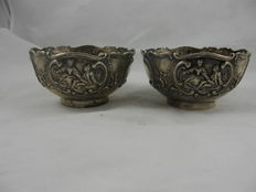Set of two silver finger bowls, Germany approx. 1920