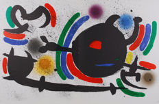 Joan Miró - Litografia Original IV, VII, VIII, IX and X