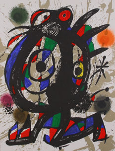 Joan Miró - Litografia original I, II, III, IV and V