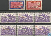 Postage stamps with overprint