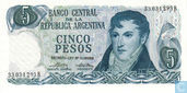 Banknotes - 1973-76 ND Issue - Argentina 5 Pesos 1974