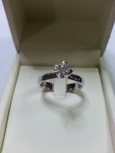 "Engagement ring made by ""Recarlo"" with 0.55 ct diamond (G/VVS2) - size 19.6 mm"