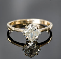 Solitaire Diamond ring 1.10 ct - 14kt gold