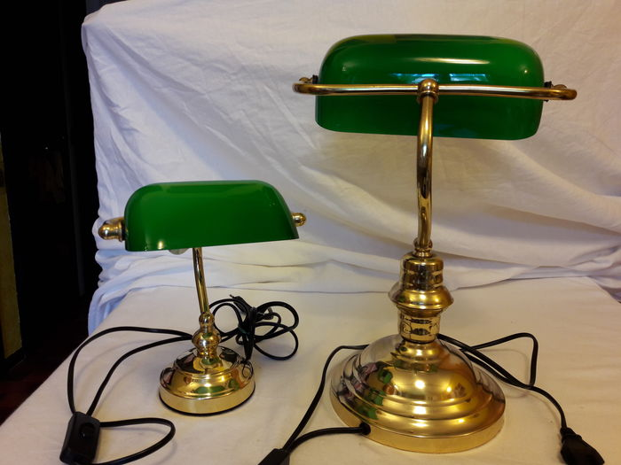 two office table lamps small and big catawiki