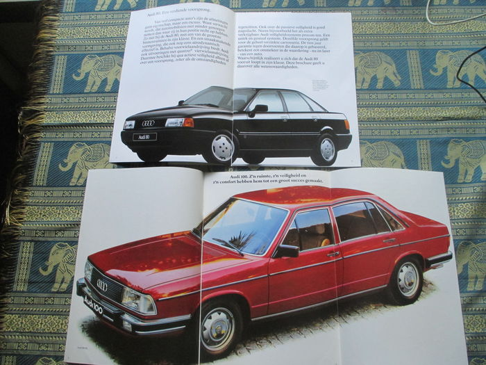car leaflets audi 34x 1969 1989 catawiki. Black Bedroom Furniture Sets. Home Design Ideas