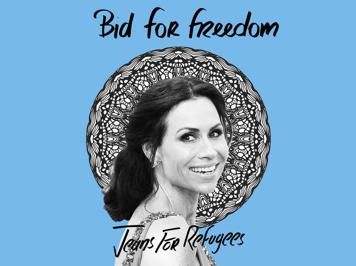 Minnie Driver's 'Jeans for Refugees'