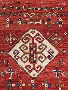 Antique Borchalu-Kazak rug, Around 1880, 135 x 130 cm
