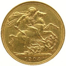 England – Sovereign 1904 Edward VII, gold