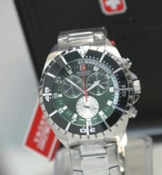 Green military Hanowa Chronograph 100m (10 ATM) - men's wristwatch