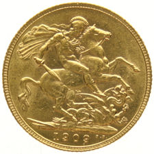 Australia Melbourne - Sovereign 1909 Edward VII - gold