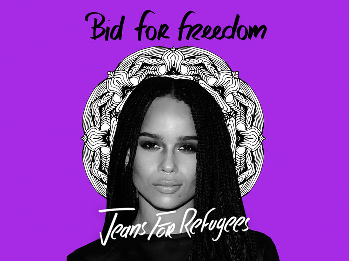 Zoe Kravitz's 'Jeans for Refugees'