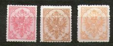 Bosnia and Herzegovina 1900 -  Michel 16A, 18A and 19A