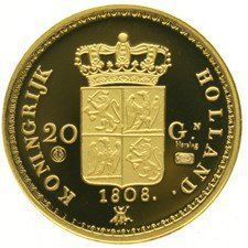 Netherlands - Restrike of the 20 guilder coin 1808 Louis Napoleon - gold