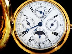 LeCoultre: chronograph, minute repeater, perpetual calendar, moon phase. Circa 1880 {ref no 203}