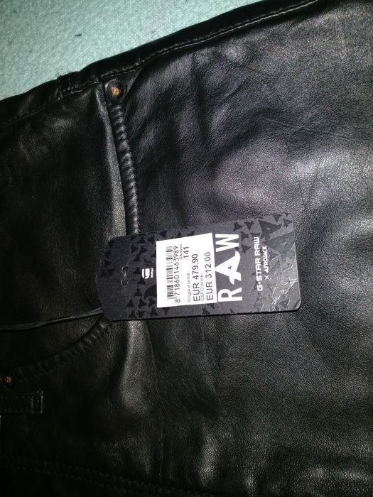 af72f6dcfb6 G-Star Raw – Leather Trousers - Catawiki