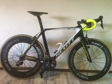 Scott Team Issue Full Carbon road bike - with Planet X Pro carbon wheels - Professionally used at team Rings (Goirle/NL)