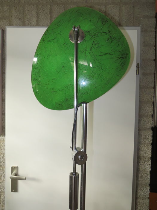 Designer unknown floor lamp with glass bowl catawiki for Designer glass floor lamp