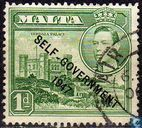 Postage Stamps - Malta - Imprinted SELF GOVERNMENT '