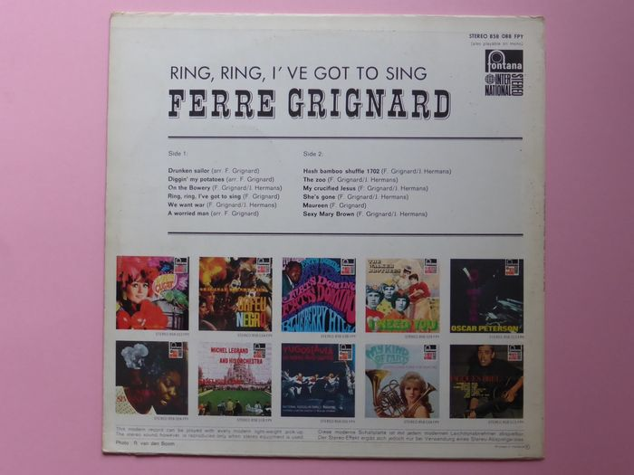 Ferre Grignard - Captain's Disaster / Tell Me Now