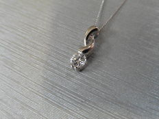 Diamond swirl Pendant and chain 0.25 ct