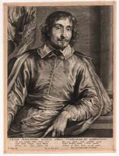 Anthony Van Dijck (1599-1641)  - Caesar Alexander Scaglia -  engraved by Paul Pontius (1603-1658) C. 1635