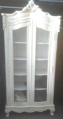 An attractive white painted cabinet, France, last quarter 20th century