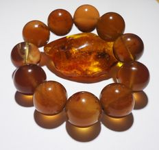 Baltic cognac color amber bracelet
