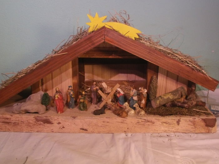Self-made, unqiue nativity scene