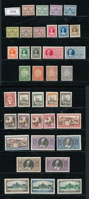 Vatican 1929/1933 - Composition on stock card