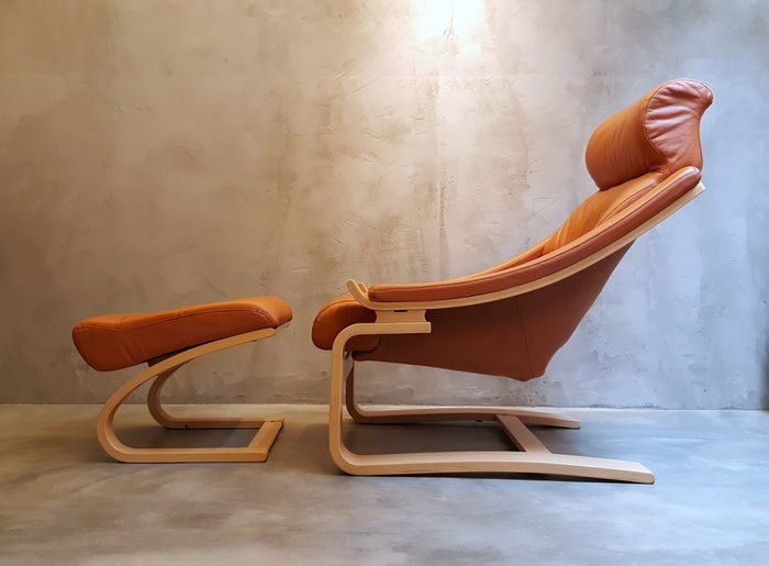 Åke Fribyter For Nelo U2013 Royal Relaxing Chair With Footstool