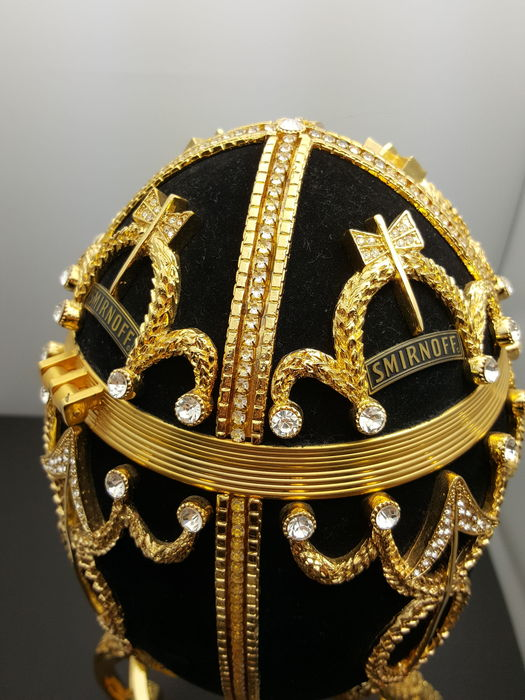 97b38b0501b58 'Smirnoff' Gilded Fabergé Black Edition Collector's Egg, with more than 400  swarovski crystals, - Catawiki