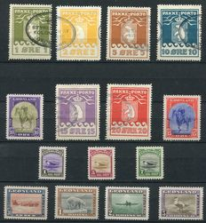 Greenland 1915/45 - Selection including parcel stamps