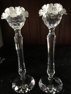 Swarovski - Sophisticated pair of candle holders 137