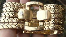 Magnificent solid, heavy, flexible bracelet by CELINE - 77.6 g in 18 kt gold