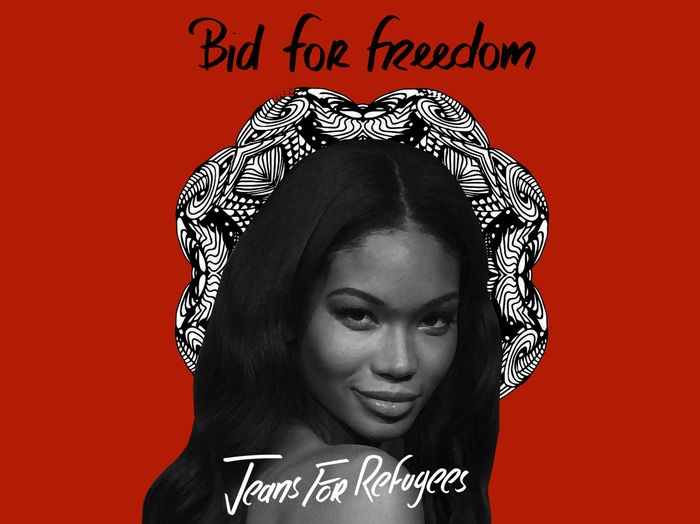 Chanel Iman's 'Jeans for Refugees'