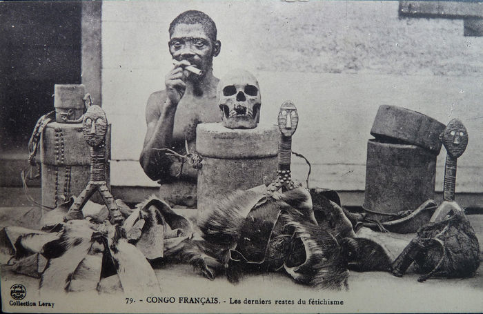 Original French Congo Vintage Picture Post Card.