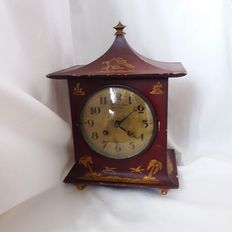 Table clock by Lenzkirch with case made by another artisan