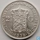 Netherlands 2½ gulden 1938 (deeper hairlines)